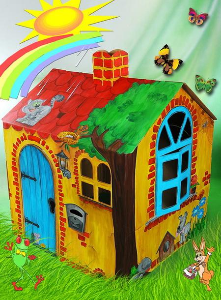 domek z tektury dla dzieci